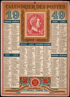 Luxembourg Calendrier PTT 1949 , Grand Format, 2 Scans - Grand Format : 1941-60