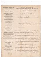 Courrier 1895 Soc. Anon. De Fondries D'Art Et De Bâtiment (anc. Denonvilliers), 174 Rue Lafayette, Paris - France