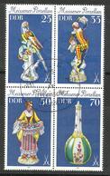 """DDR 2468-71Zd """" 4-er Zusammendruck Meissner Porzellan Der DDR 1979 """" Sst Mi 7,50 - [6] République Démocratique"""