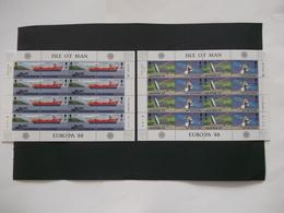 MAN Ile De Man   - Feuilles Completes    N° 367  / 370  Années 1988  CEPT Europa  Neuf XX    ( Voir Photo ) - Man (Eiland)