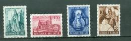 België 1948; Abdij Chèvremont, OCB 777-780, Ongebruikt, Plakker. - Neufs