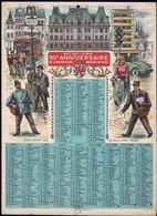 Luxembourg Calendrier 1959, 50e Anniversaire De La Fédération Des Facteurs Des Postes, Grand Format, 2 Scans - Calendriers