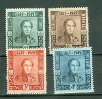 België 1949; 100 Jaar Postzegels, OCB 807-810, Ongebruikt, Plakker. - Neufs