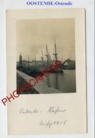 OOSTENDE-Hafen-PORT-Bateaux-CARTE PHOTO Allemande-Guerre 14-18-1WK-BELGIQUE-BELGIEN- - Oostende