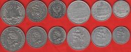 French Polynesia Set Of 6 Coins: 1 - 50 Francs 1967-2018 - Frans-Polynesië