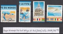 France Coupe Du Monde De Foot-ball En Afrique Du Sud (2010) Y/T Série 4481/4484 Neufs ** Issus Du Feuillet F4481 - Neufs