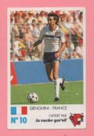 Figurina Finale Au Parc Des Princes 8 Juin 1985 - La Vache Qui Rit N° 10 - Genghini - France - Trading Cards