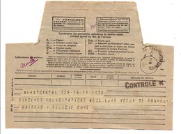 OBLITERATION DE CENSURE CONTROLE K SUR TELEGRAMME 1941 - Marcophilie (Lettres)