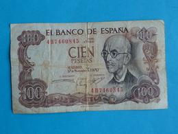 100 PESETAS ESPAGNE  17.11.1970 - 4 H.7460845 - [ 3] 1936-1975 : Regime Di Franco