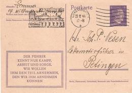 Postkarte: Stempel Festungs-und Rosenstadt Im Moselland 22.12.43 - 1940-1944 Occupation Allemande