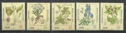 """DDR 2691-96 """"Giftpflanzen, Satz Kpl.."""" Postfrisch.Mi 3,00 - Toxic Plants"""
