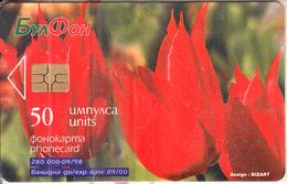 BULGARIA - Tulipa Rhodopaea V El., Bulfon Telecard 50 Units, Chip GEM6a, 09/98, Mint - Bulgaria