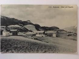 CPA, Riederalp, Hôtel Und Kapelle,écrite En 1905, Timbre, éditeurs Wehrli A.G, Kilchberg Zürich - VS Valais