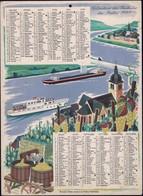 Luxembourg 1965, Calendrier Des Factuers Des Postes, Grand Format, 2 Scans - Calendars