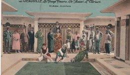 DEAUVILLE (14). La Plage Fleurie. Les Bains. L'Atrium, Animé. M. Adda, Architecte. (Carte Colorisée) - Deauville