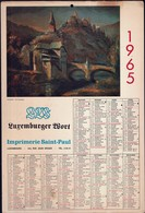 Luxembourg 1965, Calendrier Luxemburger Wort Imprimerie St.Paul, Grand Format, 2 Scans - Calendriers