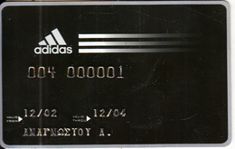 GREECE - Adidas, Magnetic Member Card, Exp.date 12/04, Used - Unclassified
