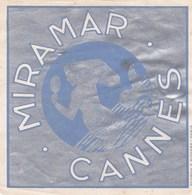 MIRAMAR CANNES   10,5 X 10,5 - Etiquettes D'hotels