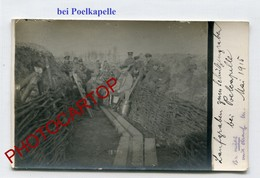 POELKAPELLE-Tranchee All.-CARTE PHOTO Allemande-Guerre 14-18-1WK-BELGIQUE-BELGIEN-Flandern - Langemark-Poelkapelle