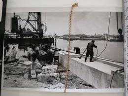Photo Original 1950, Ostende Constr. Murs Quais Gare Maritime - Saint-Ghislain