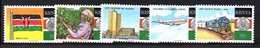 CI1399 - KENYA 1988  ,  Yvert N. 459/463  ***  MNH   (2380A) Indipendenza Treno Aereo - Kenia (1963-...)