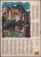 Luxembourg 1969, Calendrier Des Facteurs Des Postes, Grand Format, 2 Scans - Calendriers