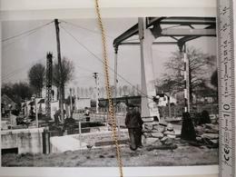 Photo Original 1951, Leie Stuw Van Balgerhoeke, Monteeren Der Schuiven - Eeklo