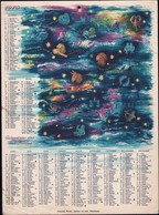 Luxembourg 1970, Calendrier Des Facteurs Des Postes, Grand Format, 2 Scans - Calendriers