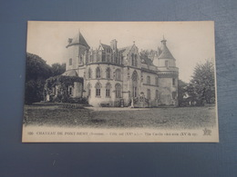 Cpa Château De Pont-Rémy Côté Est. 1922 - Francia