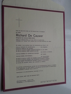 DB Richard DE CAUWER ( Maria Weyn ) Beveren-Waas 2 Juni 1918 > 1 Jan 1974 ( Zie / Voir Photo ) ! - Overlijden