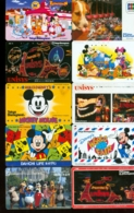 10 Télécartes Différentes DISNEY JAPAN  (LOT 2)  10 DIFFERENT PHONECARDS DISNEY  * 10 VERSCHIEDENE TELEFONKARTEN DISNEY - Disney