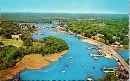 Maine Kennebunkport Aerial View Of Kennebunk River