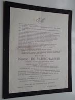 DB Nestor DE VLEESCHAUWER ( De Henau ) Ophasselt 26 Feb 1885 - Aalst 3 Sept 1960 ( Zie Photo ) ! - Décès