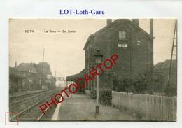 LOTH-LOT-Gare-De Statie-Periode Guerre 14-18-1WK-BELGIQUE-BELGIEN-Feldpost- - Beersel