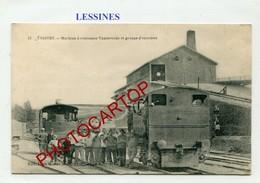 LESSINES-Concasseur Vandevelde-Locomotive-Technique-Periode Guerre 14-18-1WK-BELGIQUE-BELGIEN-Feldpost- - Lessines
