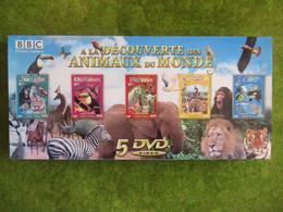 """Coffret  De 5 DVD  """" A La Découverte Des Animaux Du Monde""""  (Neuf) - Documentary"""
