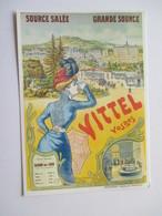 Vittel Affiche éditée Début Siècle Chemin Fer De L'Est Georges Darasse Reproduction - Vittel Contrexeville