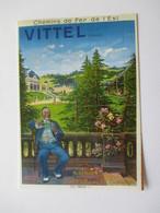 Vittel Affiche éditée Début Siècle Chemin Fer De L'Est Ch Guinton Reproduction - Vittel Contrexeville