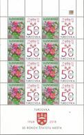 SK 2018-663 Floral Motif SLOVAKIA, MS, MNH - Ungebraucht