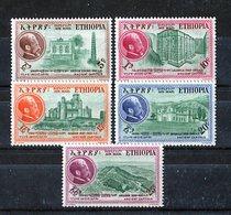 Etiopía 1957. Yvert A 49-53 * MH. - Ethiopië
