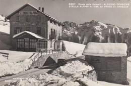 KAREPASS-PASSO CAREZZA-BOZEN-BOLZANOALBERGO PENSIONE=STELLA ALPINA=-CARTOLINA VERA FOTOGRAFIA VIAGGIATA IL 26-6-1952 - Bolzano