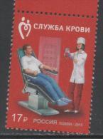 RUSSIA  ,2015, MNH, BLOOD, DONATING BLOOD, NURSES, 1v - Health