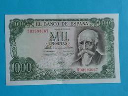 1000  PESETAS 17 SEPTEMBRE 1971 -  5 D 3993667 - [ 3] 1936-1975: Franco