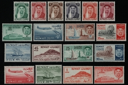Kuwait 1961 - Mi-Nr. 145-162 ** - MNH - Freimarken / Definitives - Kuwait