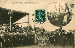 Floing Sedan * Inauguration Du Monument Des Braves Gens * Arrivée Du Général Bailloud - Sedan