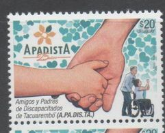 URUGUAY, 2017, MNH, HANDICAPPED PEOPLE, APADISTA,  1v - Health