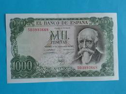 1000  PESETAS 17 SEPTEMBRE 1971 -  5 D 3993668 - [ 3] 1936-1975 : Régence De Franco