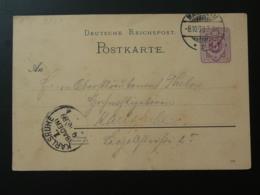 Entier Postal Stationery Card Mannheim Allemagne Germany 1897 - Ganzsachen