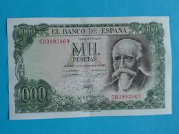 1000  PESETAS 17 SEPTEMBRE 1971 -  5 D 3993669 - 1000 Pesetas