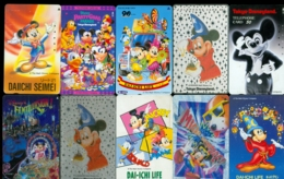 10 Télécartes Différentes DISNEY JAPAN (LOT 7)  10 DIFFERENT PHONECARDS DISNEY  * 10 VERSCHIEDENE TELEFONKARTEN DISNEY - Disney